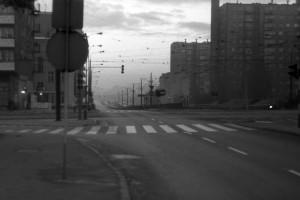 świt nad ulicą