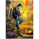 Plakaty i obrazy Obraz na płótnie OML052_13 - Saksofonista
